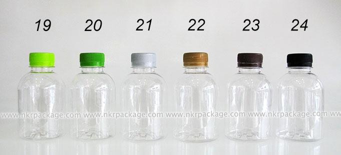 วดพลาสติก กลมเรียบเตี้ย 220 ml. + ฝาพลาสติก หมายเลข 19-24