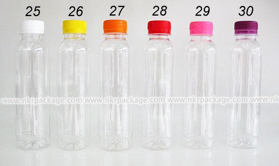 ขวดพลาสติก กลมเรียบสูง 230 ml.+ ฝาพลาสติก หมายเลข 25-30