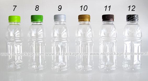ขวดพลาสติก ทรงโออิชิ 200 ml. ใส + ฝาพลาสติก หมายเลข 7-12