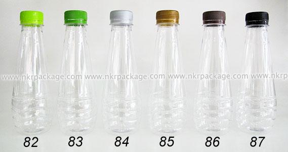 ขวดพลาสติก หยดน้ำ 250 ml. ใส + ฝาพลาสติก หมายเลข 82-87