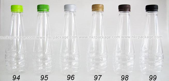 ขวดพลาสติก หยดน้ำ 330 ml. ใส + ฝาพลาสติก หมายเลข 94-99