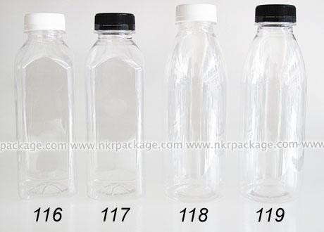ขวดใส่น้ำดื่ม , ขวดน้ำผลไม้ และ ขวดใส่น้ำจิ้ม แบบหนา ปากกว้าง หมายเลข 116-119
