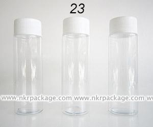 หลอด PVC 80 ml. สีใส + ฝาเกลียว หมายเลข23
