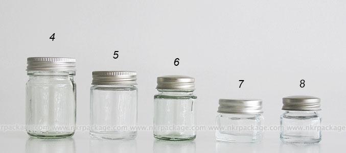 ขวดแก้วยาหม่อง แบบ 4-8