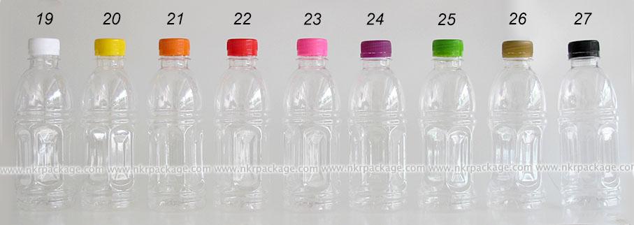 ขวดน้ำดื่ม น้ำผลไม้ โออิชิ ขนาด 350 ml. + ฝาพลาสติก
