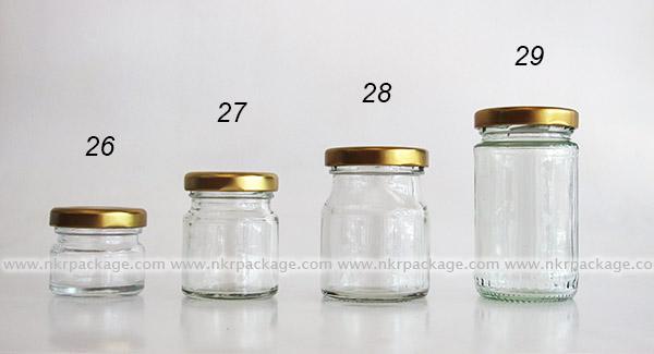 ขวดแก้ว หมายเลข 26-29
