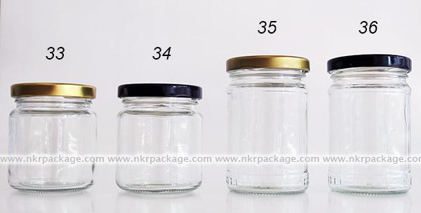 ขวดแยม/ขวดใส่น้ำผึ้ง/ขวดใส่น้ำพริก หมายเลข 33-36