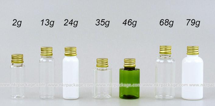 ขวดพลาสติก ขวดใส่เครื่องสำอาง (1) หมายเลข 2g-79g