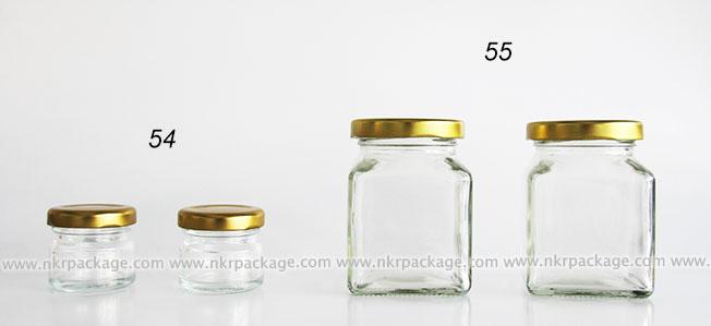 ขวดแยม/ขวดน้ำสลัด/ขวดน้ำพริก แบบ 54-55