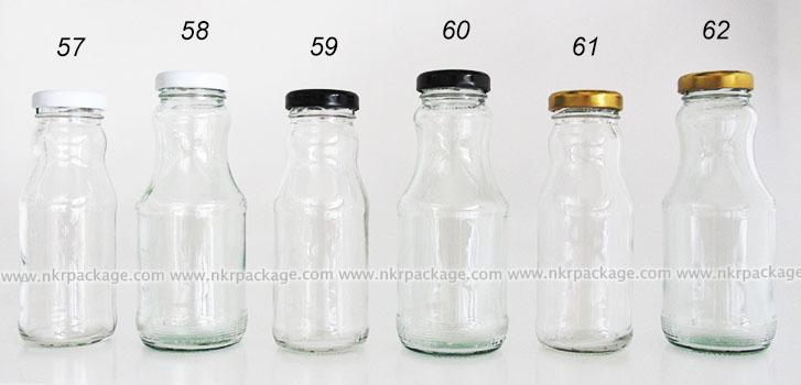 ขวดแก้วน้ำผลไม้ หมายเลข 57-62