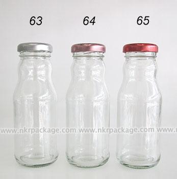ขวดแก้วน้ำผลไม้ หมายเลข 63-65
