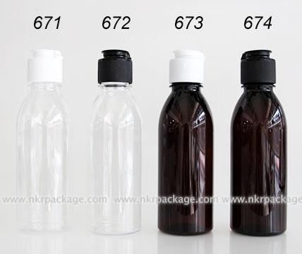 ขวดพลาสติก ขวดใส่เครื่องสำอาง (1) หมายเลข 671-674