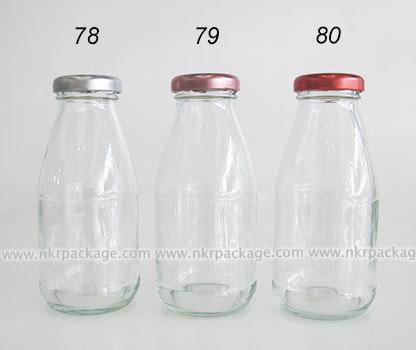 ขวดแก้วใส่นม ขวดแก้วน้ำผลไม้ หมายเลข 78-80