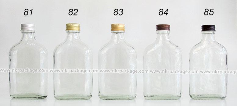 ขวดแก้วแบน (แบนกั๊ก) ใส่ชา/กาแฟ/น้ำผลไม้ หมายเลข 81-84