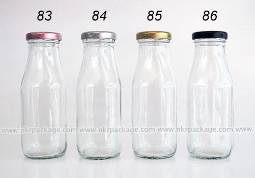 ขวดแก้ว เหลี่ยม SQ43-250 ml. หมายเลข 83-86