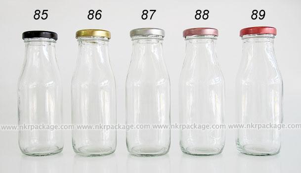 ขวดแก้วเหลี่ยมใส่นม ขวดแก้วน้ำผลไม้ หมายเลข 85-89