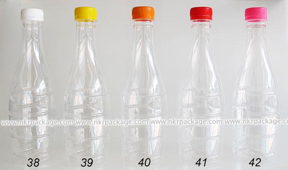 ขวดพลาสติก ทรงโบว์ลิ่ง 500 ml. ใส + ฝาพลาสติก หมายเลข 38-42