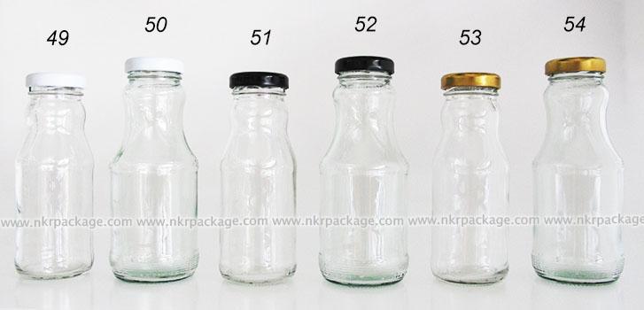 ขวดแก้วน้ำผลไม้ หมายเลข 49-54