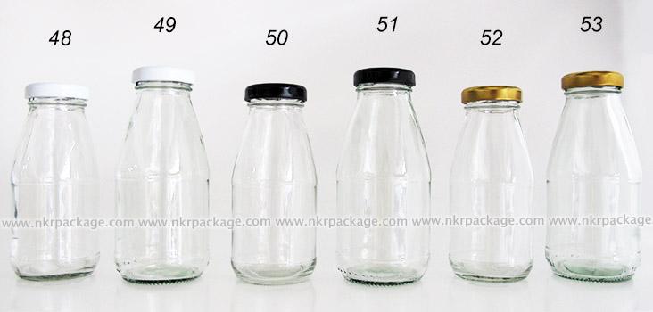 ขวดแก้วใส่นม ขวดแก้วน้ำผลไม้ แบบ 48-53