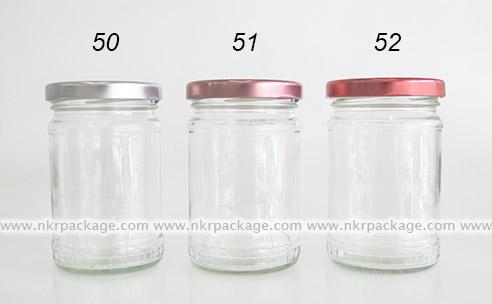 ขวดแยม/ขวดใส่น้ำผึ้ง/ขวดใส่น้ำพริก หมายเลข 50-52