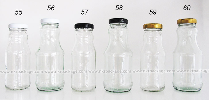 ขวดแก้วน้ำผลไม้ แบบ 55-60