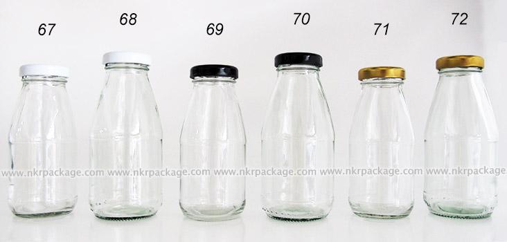 ขวดแก้วใส่นม ขวดแก้วน้ำผลไม้ แบบ 67-72