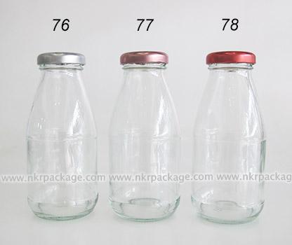ขวดแก้วใส่นม ขวดแก้วน้ำผลไม้ แบบ 76-78