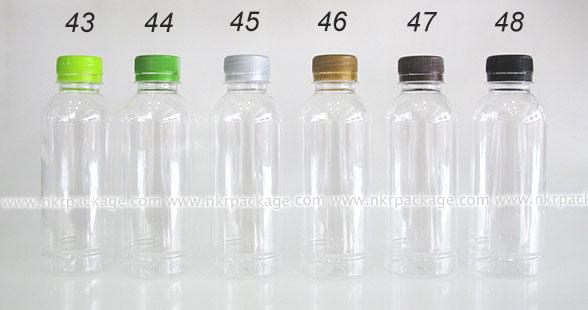 ขวดพลาสติก กลมเรียบ 250 ml. + ฝาพลาสติก หมายเลข 43-48