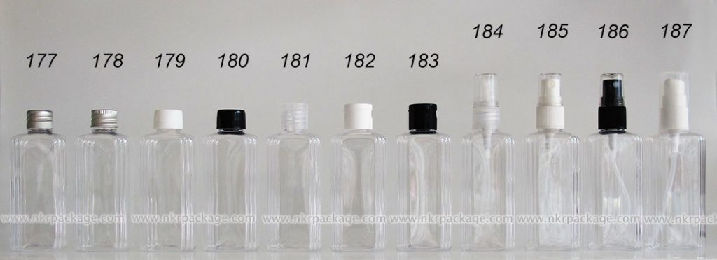 ขวดพลาสติก ขวดใส่เครื่องสำอาง (1) หมายเลข 177-187