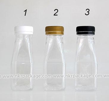ขวดพลาสติก ทรงเหลี่ยม 150 ml. ใส (ปาก 34 มม.)